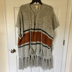 Free People Cozy Oversized Poncho Sweater